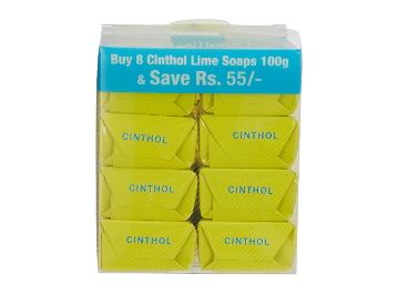 Cinthol Lime Bath Soap, 100g (Pack of 8) at Rs. 148